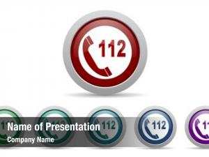 Icon emergency call 112 call
