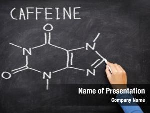 Molecule caffeine chemical structure blackboard
