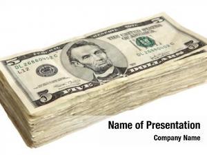 Dollar stack five bills