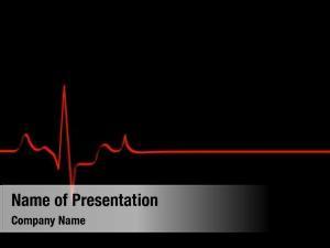 Lining red flat heart rhythm