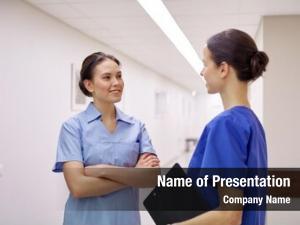 Doctors medics, nurses talking hospital