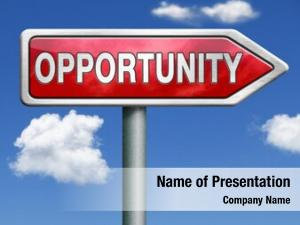 Chance opportunity concept follow road