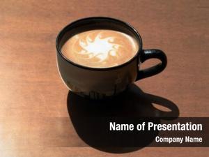 Aka hot coffee latte art