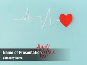 Cardiogram paper cut heart rhythm