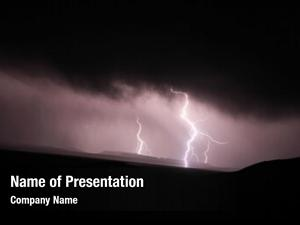 Darkness lightning strike over mountains