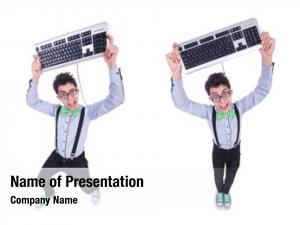 Nerd computer geek funny concept
