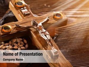 Christian close up wooden cross