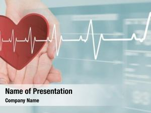 Heart digital composite beat over
