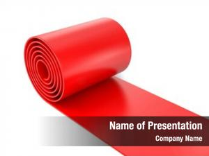 Red person rolling carpet white