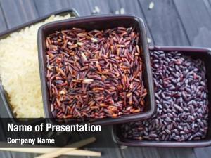 Rice: three variety red rice,