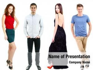 Models collage fashion white