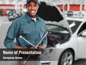 Mechanic smiling car wrench auto