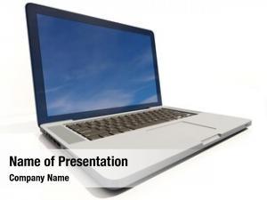 Laptop modern glossy computer blank