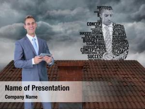 Businessman businessman roof silhouette made