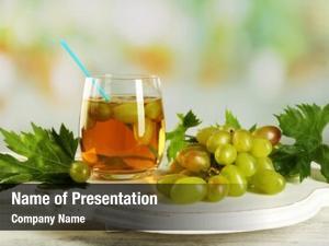 Juice grape glass table