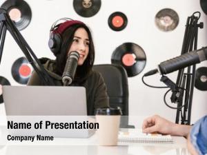 Hosts two radio moderating live