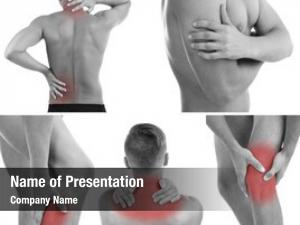 Man collage representing having pain