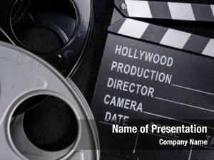 Film movie clapper reel wooden
