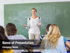 Teaching female teacher students class