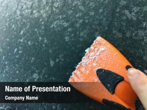 Scraper hand orange scraping frozen