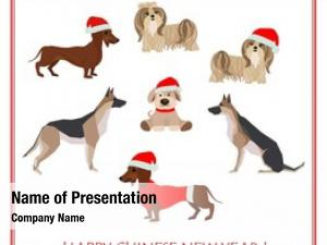 Abstract greeting card dogs santa