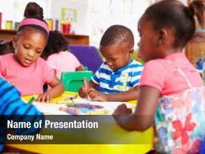 South preschool class african township,