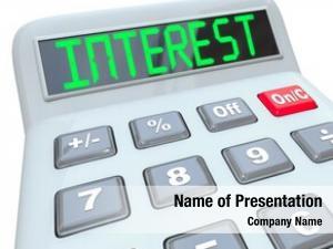 Displays plastic calculator word interest