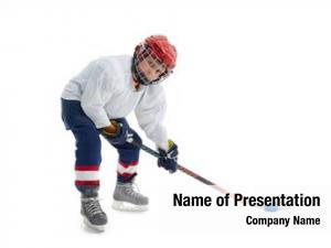Hockey junior ice player