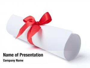 Red graduation diploma ribbon, white