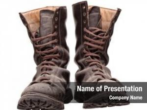 Close stylish boots, view woman