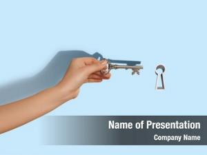 Hand close human inserting key