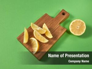 Green citrus fruits place text