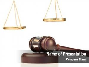Golden fixed gavel scale justice
