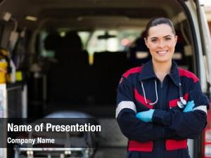 Female attractive young emergency medical