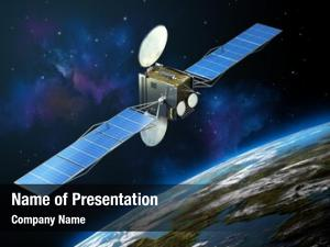 Satellite modern communication floating space,