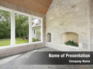Fireplace porch stone