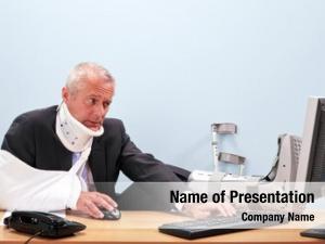 Businessman photo mature multiple injuries