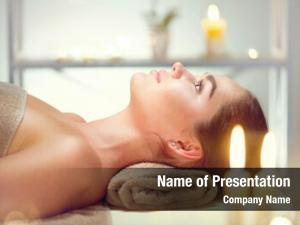 Cosmetology female relaxing spa center