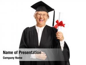 Graduate senior female holding degree
