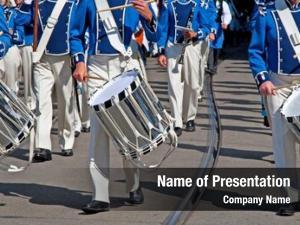 Marching military band parade