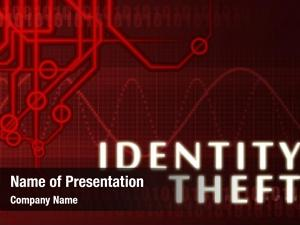 Concept identity theft abstract background