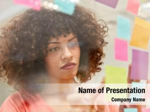 Woman african business creative brainstorming