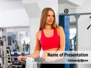 Waist twisting disc fitness woman workout