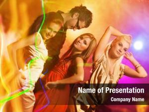 Night people dancing club
