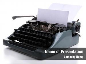 Machine, vintage typewriter white