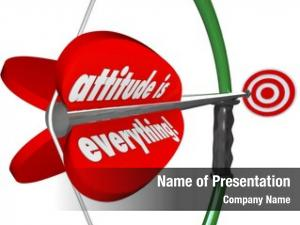 Everything words attitude red arrow