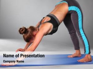 Girl portrait sport doing yoga