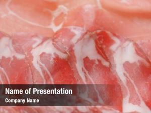 Ham salami, sliced sausage