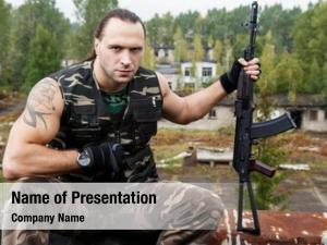 Gun army soldier