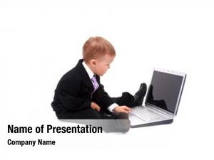 Laptop little child isolated white